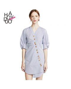 Kort skjorte kjole med knapper.