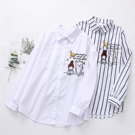 skjorte med broderi